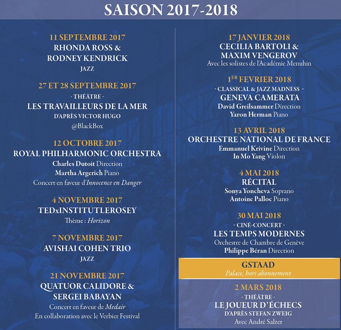 Rosey Concert Hall Saison 2017-2018