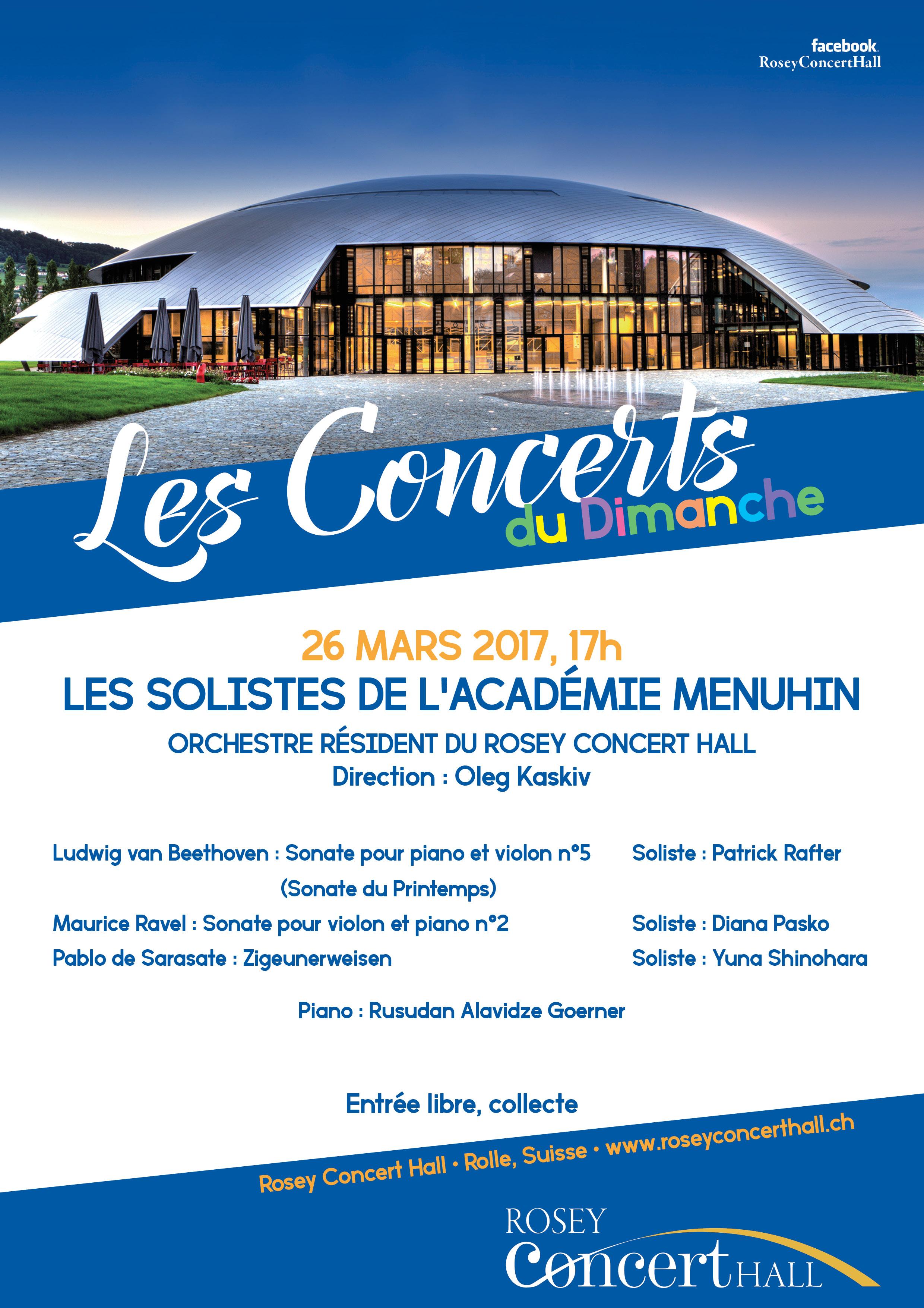 Concert du Dimanche 26 mars