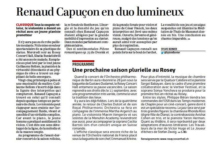 Article Renaud CapuçOn