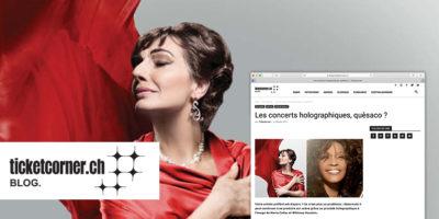 Maria Callas en hologramme au Rosey Concert Hall