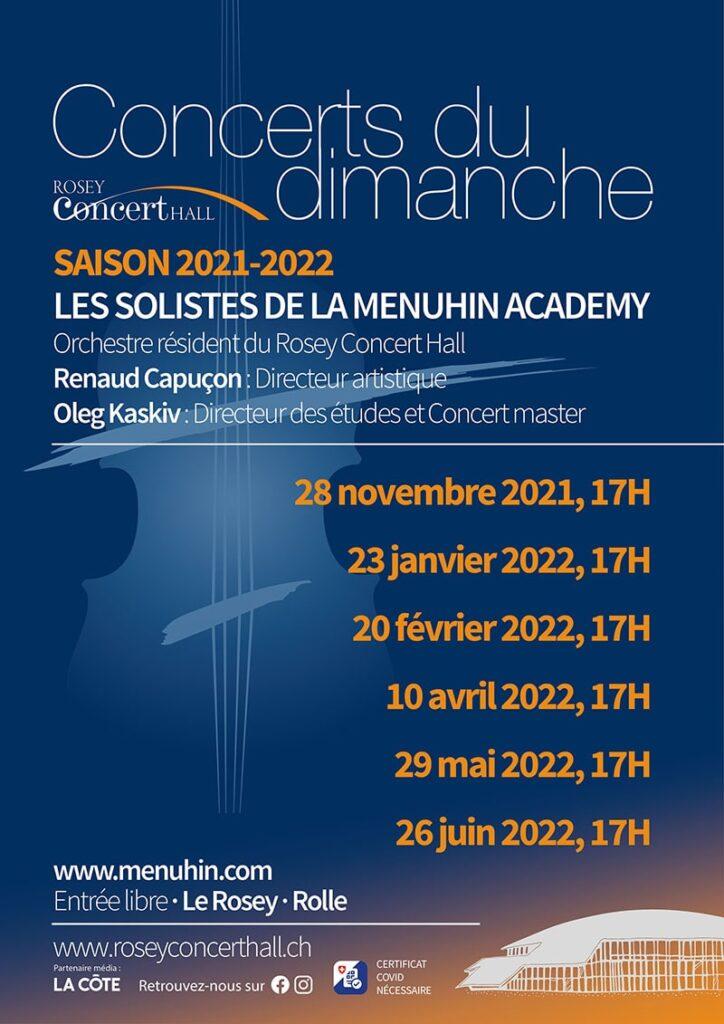 Concerts du dimanche 2021-22